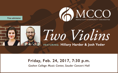 """Two Violins"" to be featured in Friday evening concert"